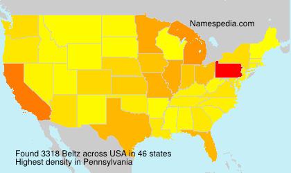 Surname Beltz in USA