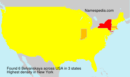 Familiennamen Belyanskaya - USA