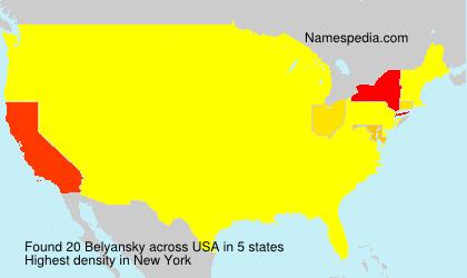 Surname Belyansky in USA