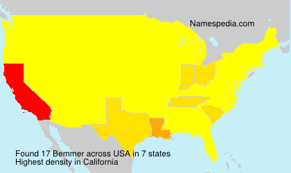 Surname Bemmer in USA