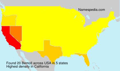 Surname Bemoll in USA