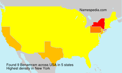 Surname Benamram in USA