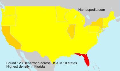 Familiennamen Benarroch - USA