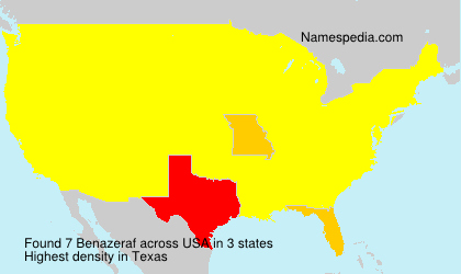 Surname Benazeraf in USA