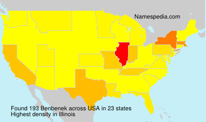 Surname Benbenek in USA