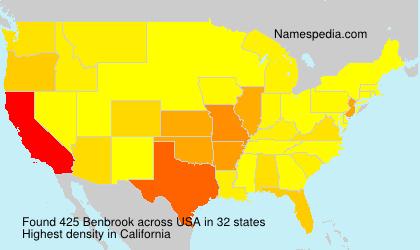 Surname Benbrook in USA