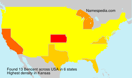 Surname Bencent in USA