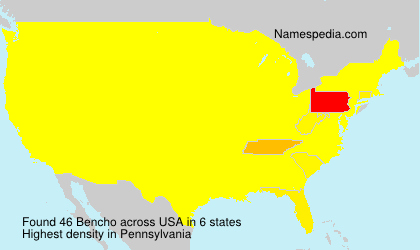 Surname Bencho in USA