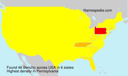 Surname Bencho in USA