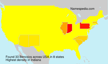 Surname Bencsics in USA
