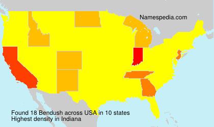 Surname Bendush in USA