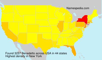 Surname Benedetto in USA