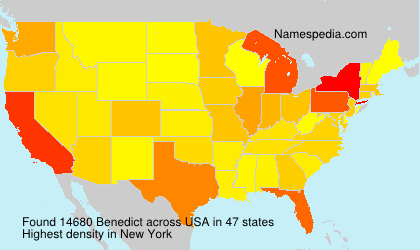 Surname Benedict in USA