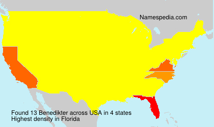 Familiennamen Benedikter - USA