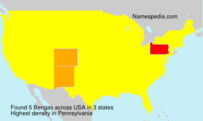 Surname Bengas in USA