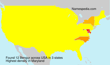 Surname Bengur in USA