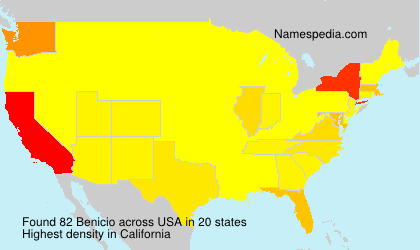 Surname Benicio in USA