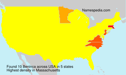 Surname Beninca in USA