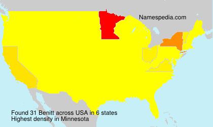 Surname Benitt in USA