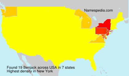 Surname Benjack in USA