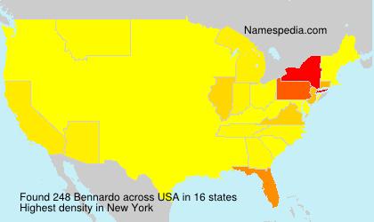 Surname Bennardo in USA