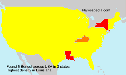 Surname Benout in USA