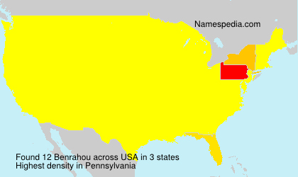 Surname Benrahou in USA