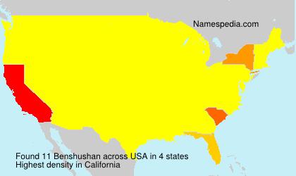 Surname Benshushan in USA