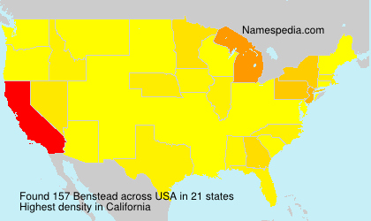 Surname Benstead in USA