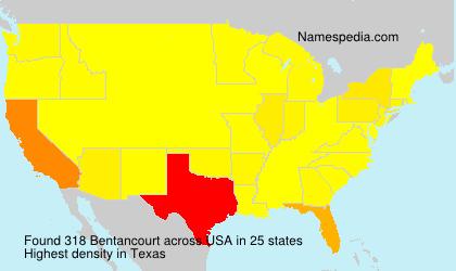 Surname Bentancourt in USA