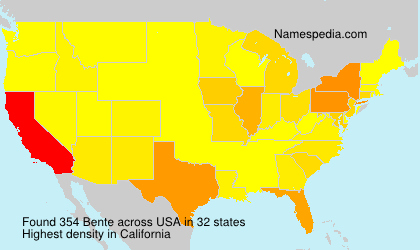 Surname Bente in USA