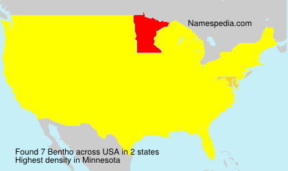 Surname Bentho in USA