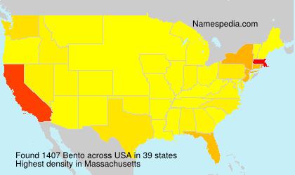 Surname Bento in USA