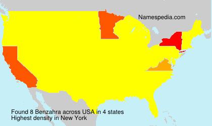 Familiennamen Benzahra - USA