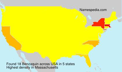 Familiennamen Benzaquin - USA