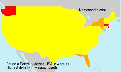 Familiennamen Benzikry - USA