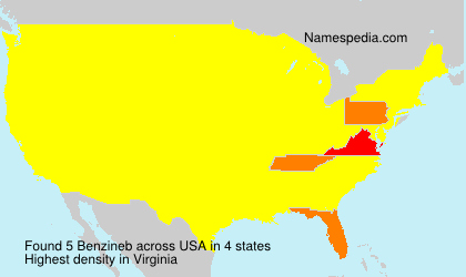 Familiennamen Benzineb - USA