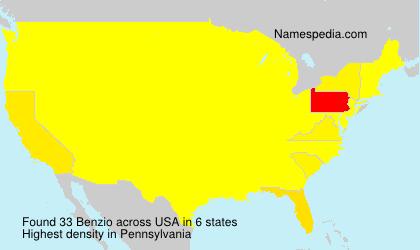 Familiennamen Benzio - USA