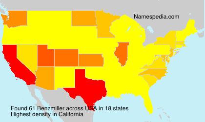 Familiennamen Benzmiller - USA