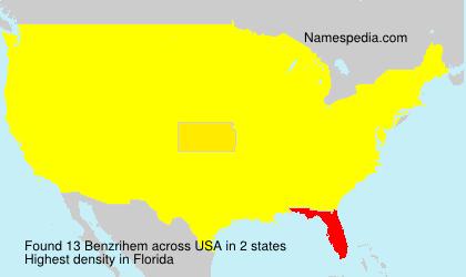 Familiennamen Benzrihem - USA