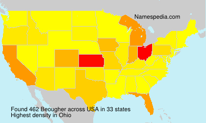 Familiennamen Beougher - USA
