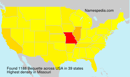 Surname Bequette in USA