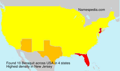 Surname Beraquit in USA
