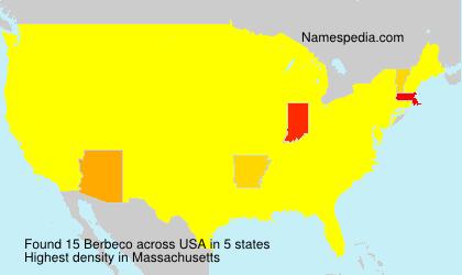 Surname Berbeco in USA