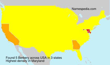 Familiennamen Berbery - USA