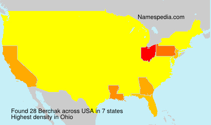 Familiennamen Berchak - USA