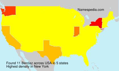 Surname Berclaz in USA