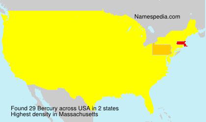 Surname Bercury in USA