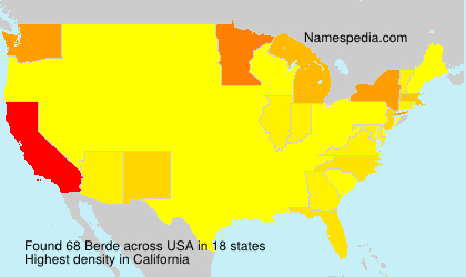 Surname Berde in USA