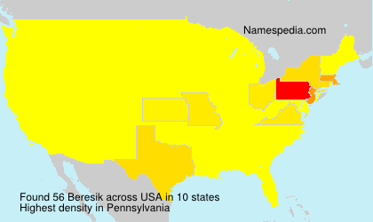 Surname Beresik in USA
